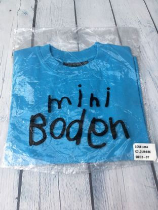 Mini Boden brand new blue t-shirt age 5-6